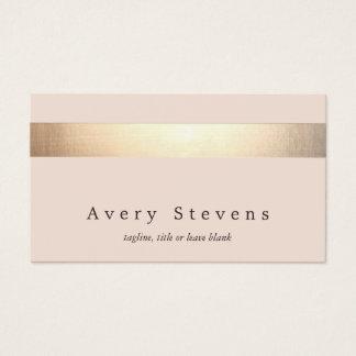 Cartes De Visite L'or élégant a barré (aucun éclat) rose-clair