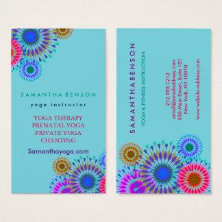 Cartes De Visite Méditation élégante de yoga de logo