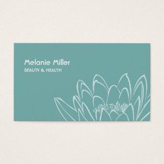Cartes De Visite Mint lilypad flower beauty wellness zen card