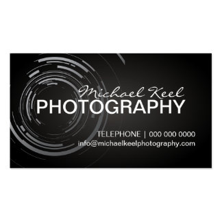 Cartes de visite modernes de photographe