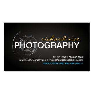 Cartes de visite modernes de photographe cartes de visite professionnelles