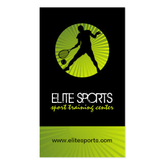 Cartes de visite modernes d'entraîneur de tennis modèle de carte de visite