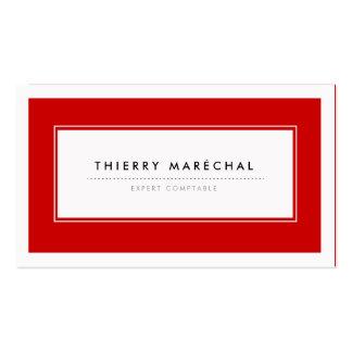 Cartes de Visite Modernes Rouge Cartes De Visite Professionnelles