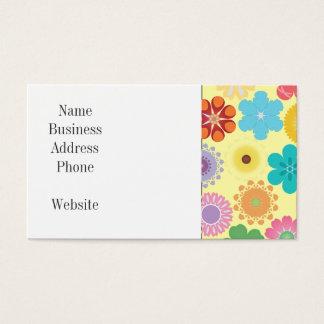 Cartes De Visite Motif floral coloré Girly de flower power