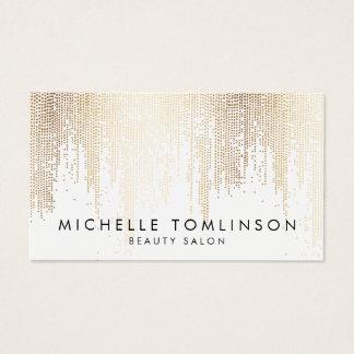 Cartes De Visite Motif Luxe de pluie de confettis d'or de Faux