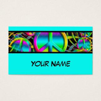 Cartes De Visite Motif sans couture de PAIX colorée + vos idées