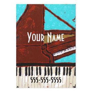 Cartes de visite musicaux de piano d'amusement carte de visite grand format