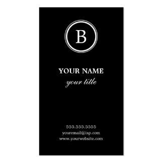 Cartes de visite noirs et blancs élégants de carte de visite standard