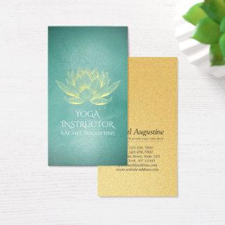 Cartes De Visite Or rougeoyant Lotus et instructeur grunge