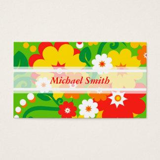 Cartes De Visite Papier peint drôle de flower power + votre texte