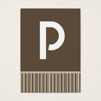 Cartes de visite personnalisables de monogramme de