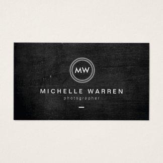 Cartes De Visite Photographe moderne du logo II d'initiales