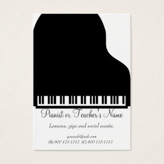 Cartes De Visite Piano blanc noir professionnel moderne classique