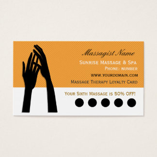 Cartes De Visite Poinçon de fidélité de client de thérapie de