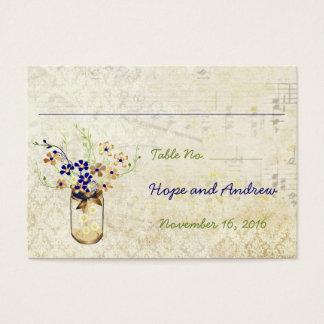 Cartes De Visite Pot de maçon de fleur sauvage d'en cuivre et de