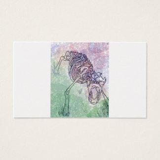 Cartes De Visite Pourpre pour aquarelle squelettique/vert de loup