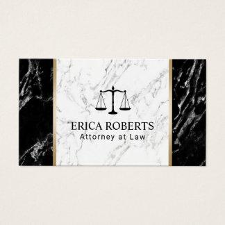 Cartes De Visite Professionnel de marbre élégant d'avocat d'avocat