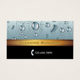 Cartes De Visite Rayure d'or de service de nettoyage