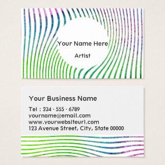 Cartes De Visite Remous coloré de rayure d'aquarelle