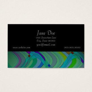 Cartes De Visite Rétro conception abstraite moderne dans les bleus