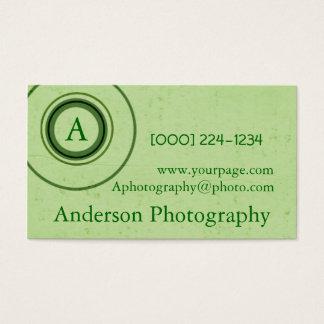 Cartes De Visite Rétro photographe de monogramme
