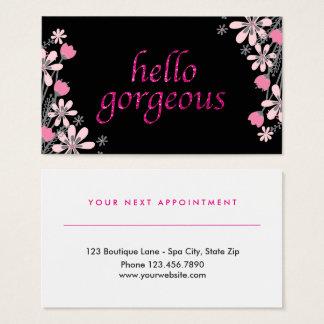 Cartes De Visite Rose magnifique floral de rendez-vous de salon de