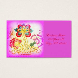 Cartes De Visite rose super de palmier de hippie-style