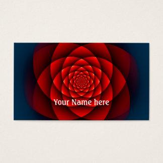 Cartes De Visite Rouge de ROSE de kaléidoscope + votre texte