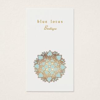 Cartes De Visite Santé et santé holistiques de logo de Lotus bleu
