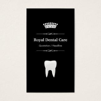 Cartes De Visite Soins dentaires - blanc noir moderne professionnel