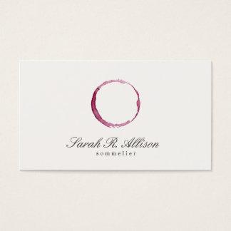Cartes De Visite Sommelier élégant de tache de vin