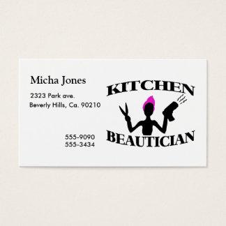 Cartes De Visite Styliste d'esthéticien de cuisine à la maison