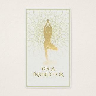 Cartes De Visite Symbole floral de l'OM de méditation de yoga de