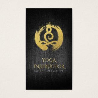 Cartes De Visite Symbole noir de ZEN de méditation de yoga de