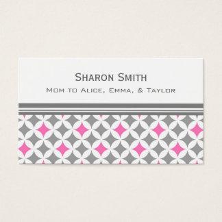 Cartes De Visite Télécartes grises roses de maman de motif de