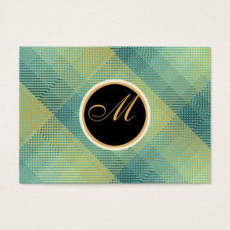Cartes De Visite Turquoise élégante de motif