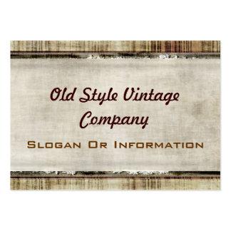 Cartes de visite vintages de regard de tissu de st carte de visite grand format