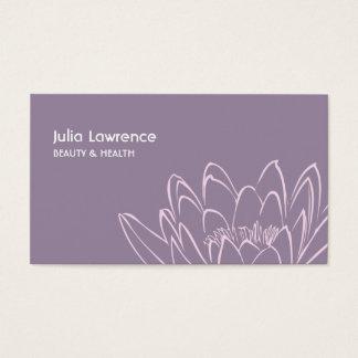 Cartes De Visite Violet lilypad Lotus flower beauty wellness card