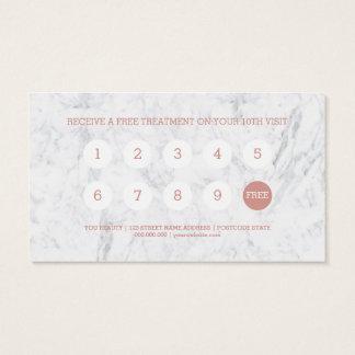 Cartes De Visite Vous poinçon rose de fidélité de marbre de