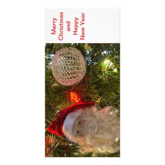 cartes de voeux de vacances de Noël 4x8 Carte Avec Photo