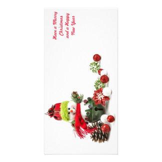 Cartes de voeux de vacances de Noël Photocarte