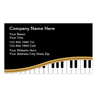 Cartes d'industrie musicale carte de visite standard