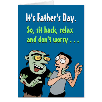 Cartes drôles de fête des pères : Détendez