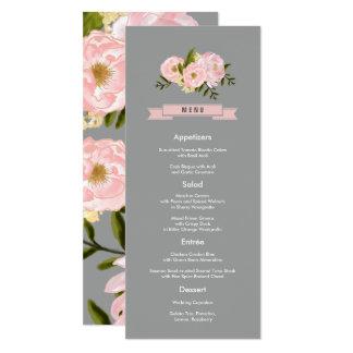 Cartes faites sur commande de menu de mariage de