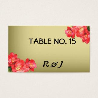 Cartes florales de nombre de Tableau d'aquarelle