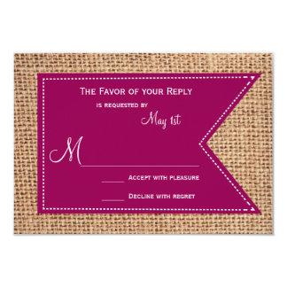 Cartes les épousant rustiques de l'impression carton d'invitation 8,89 cm x 12,70 cm