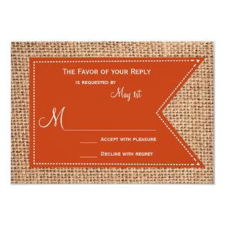 Cartes les épousant rustiques de l'impression RSVP Carton D'invitation 8,89 Cm X 12,70 Cm