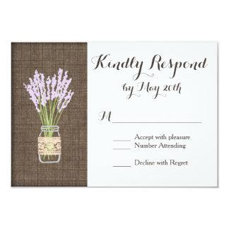 Cartes les épousant rustiques du pot de maçon carton d'invitation 8,89 cm x 12,70 cm
