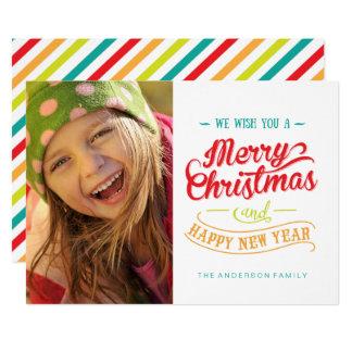Cartes photos colorés et d'amusement de Noël