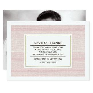 Cartes photos de coutume de Merci de mariage